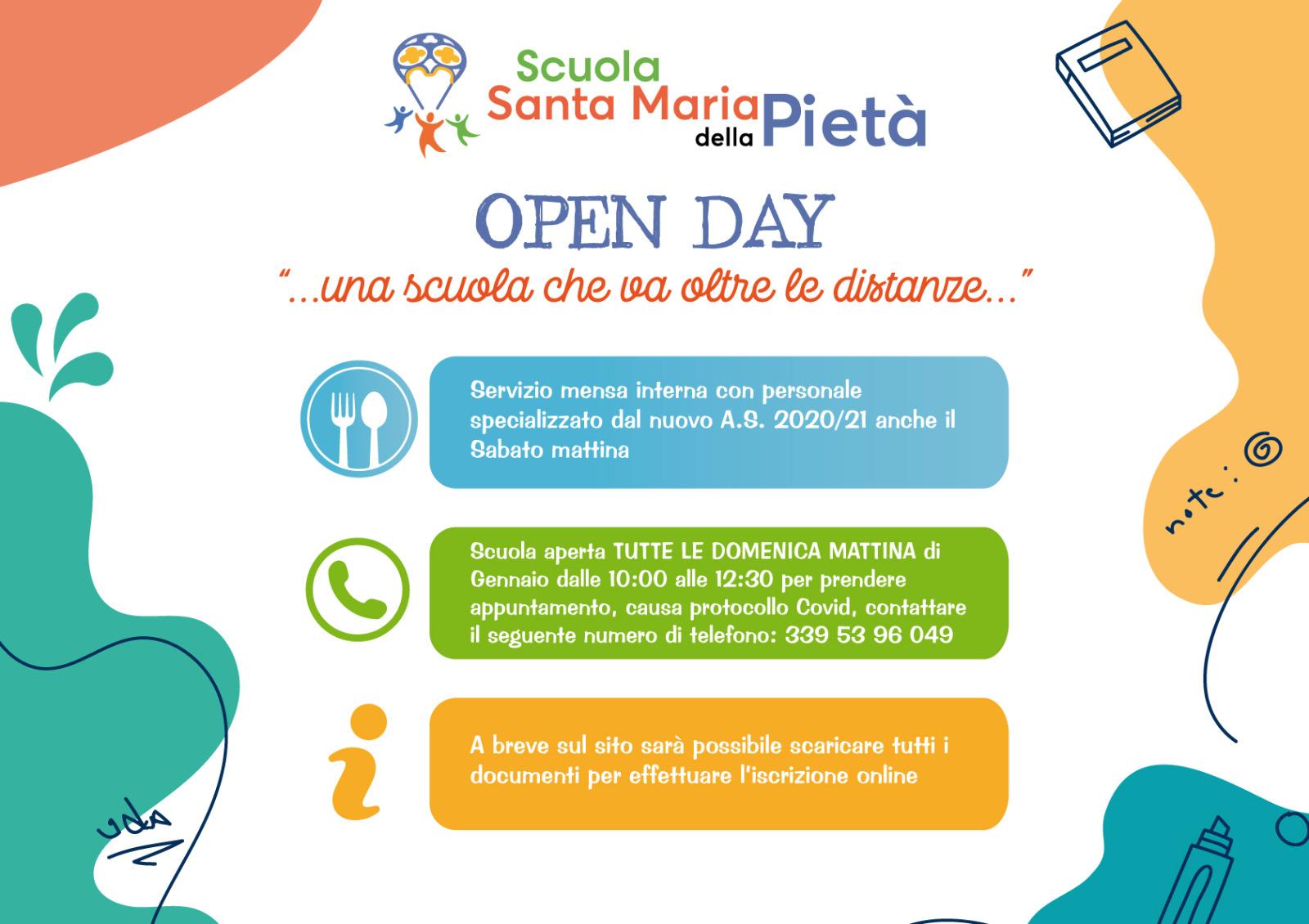Open Day 2021 - Santa Maria della Pietà